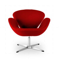 Swan Chair Red inspired by Arne Jacobsen