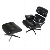 Charles Eames Lounge Chair And Ottoman Black - Reproduction