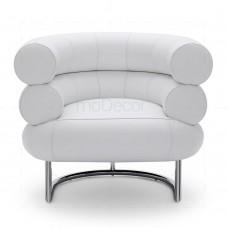 Bibendum chair inspired by Eileen Gray Chrome + White - Reproduction