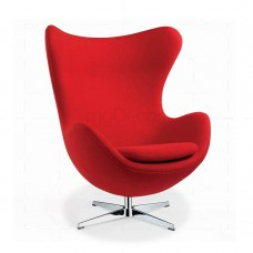 Egg Chair Red Wool insp by Arne Jacobsen