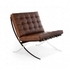 Barcelona Chair in Vintage Brown Leather
