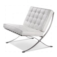 Barcelona Chair White